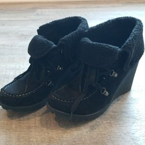 UNIONBAY Shoes - Black Wedge Booties